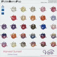Harvest Sunset [Glitter Style] By Vero