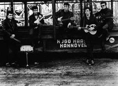 The Beatles by Astrid Kirchnerr: Pete Best on the left, then George Harrison, John Lennon, Paul McCartney and Stuart Sutcliffe (Astrid´s fiance who died out of hemorrage in Hamburg at the age of 21)