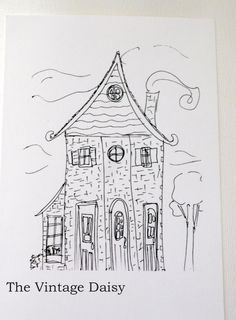 $15.00 Three Town Houses - print from an original ink sketch http://www.etsy.com/listing/92052179/three-town-houses-print-from-an-original?ref=v1_other_2
