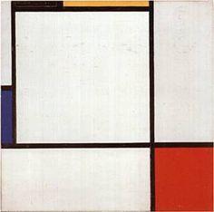 Mondrian, Composition, 1929, h/t, Solomon Guggenheim Museum of NY