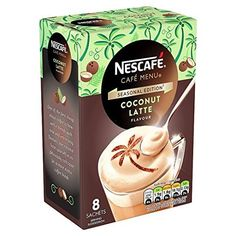 Nescafe Cafe Menu Coconut Latte Flavoured -- Read more info by clicking the link on the image. Toffee Nut Latte, Best Instant Coffee, Latte Flavors, Coffee Coupons, Colombian Coffee, Coffee Images, Coffee Dessert, Cafe Menu, Nescafe