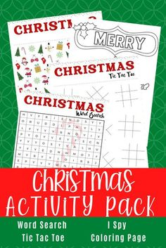 Free Christmas Printables for Your Family Christmas Games For Family, Christmas Ties, Christmas Activities For Kids, Christmas Words, Holiday Crafts For Kids, Free Christmas Printables, Christmas Colors, Holiday Fun, Christmas Crafts