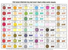 Tim Holtz distressed inks with matching Copic markers