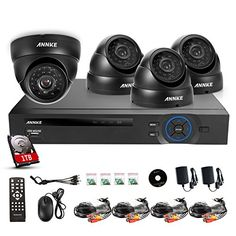 Annke 8CH 960H DVR 1TB Hard Drive Home Security System P2P & QR-Code Scan Quick Remote Access 4X 900TVL Weatherproof Indoor & Outdoor Day Night CCTV Cameras Surveillance System