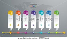 Timeline infographic design vector and marketing icons can be used for workflow layout, diagram, annual report, web design. Business concept with 7 options, steps or processes.