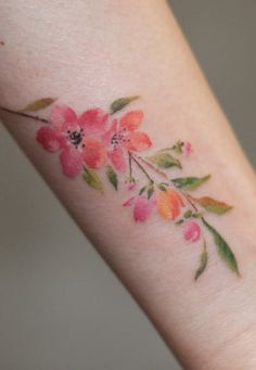 graffittoo | #cherryblossom #flower #watercolor | Tattoodo