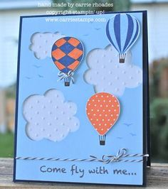 I love the texture of the clouds and the layers on this card.