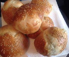 Rezept Sesam Hamburgerbrötchen von Grazia87 - Rezept der Kategorie Brot & Brötchen