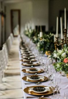 A stunning combination of black, green & gold – with pop of blush, worked so well . Flower Decorations, Table Decorations, April Wedding, Green And Gold, Special Day, Nostalgia, Blush, Natural, Beautiful