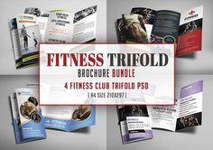Fitness Trifold Brochures Bundle  @creativework247
