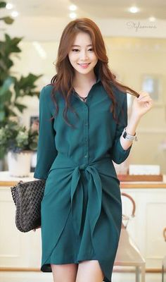 1 – Casual Dresses For Work – Casual dresses Casual Work Dresses, Short Dresses, Dresses For Work, Dresses With Sleeves, Summer Dresses, Asian Fashion, Hijab Fashion, Fashion Dresses, Dress Skirt