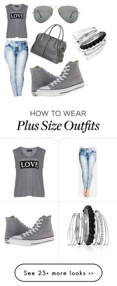 °°cool girl°° by gorgeousclothes on Polyvore featuring City Chic, Carmakoma, Converse, Tods, Avenue, Ray-Ban and plus size clothing