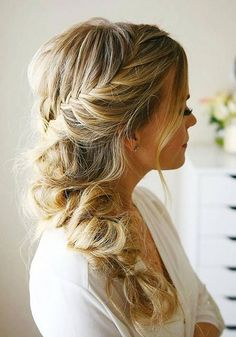 2018 wedding bridal hair updo models - New Hair Styles 2018 Prom Hairstyles For Long Hair, Holiday Hairstyles, Fancy Hairstyles, Braids For Long Hair, Bride Hairstyles, Pelo Formal, Medium Hair Styles, Long Hair Styles, Bridal Hair Updo