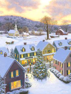 Ruth Sanderson ~ Christmas winter village