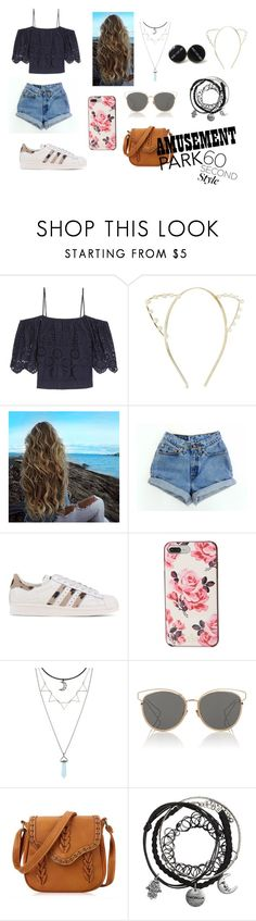 """""""Amusement Park"""" by franchis95 ❤ liked on Polyvore featuring Ganni, adidas Originals, Kate Spade, Hot Topic, Christian Dior, amusementpark and 60secondstyle"""