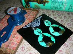 Earrings Elegant Asian Flair Design Handmade Upcycled by alyskraps