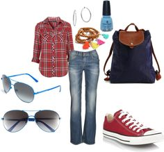 For casual work at kindergarten, created by alutrejo on Polyvore