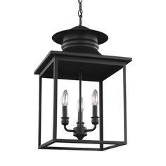 Sea Gull Lighting Huntsville 3-Light Blacksmith Hall-Foyer Pendant