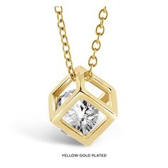 Open Cube Necklace Made with Swarovski Elements - Assorted Finishes at 86% Savings off Retail!