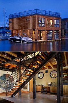Amazing Nautilus Submarine-Inspired Floating Home