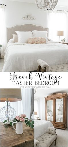 Home Interior Cocina French home decor ideas for the spring bedroom! See the whole French vintage master bedroom spring tour with So Much Better than Age. French Country Rug, French Country Bedrooms, French Country Decorating, French Style, French Classic, Rustic French, Country Style, Diy Home Decor Rustic, French Home Decor