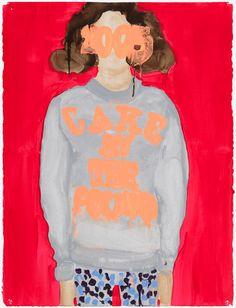 Rauha Mäkilä 2015 II 2014, Acrylic on paper, 76 x 56 cm