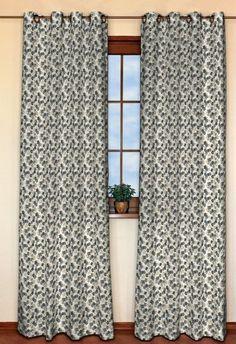 Zasłona na kółkach 1 szt. w kolekcji Fleur, tkanina: 137-57