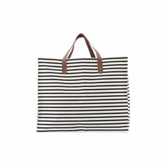 House Doctor Stripes Black White Bag : You can never have too many bags. This practical and extremely stylish Stripe shopper from House Doctor is beautiful. It is spacious and can easily cover your everyday needs. This bag is perfect for grocery shopping or for transporting your children's change of clothes to and from school.
