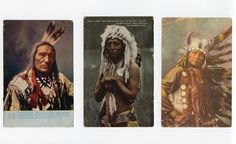 Image detail for -Lot 3 Early Native American Sioux & Blackfeet Indian Chiefs Postcards ...