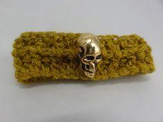 Crochet Bracelet Skull  Compass Flower Star Heart by toppytoppy, $8.00