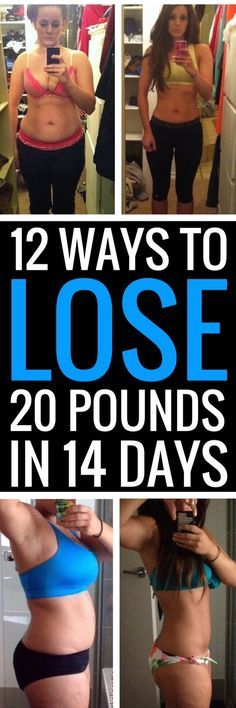 12 eating and exercise strategies that will make you lose 20 pounds in 14 days.