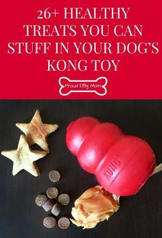 Healthy Dog Treats 26 Healthy Treats You Can Stuff In Your Dog's KONG Toy Dog Treats DIY Dog Treats - I recently got my dogs a KONG toy and they are in love! In case you aren't familiar with the classic KONG Puppy Treats, Diy Dog Treats, Homemade Dog Treats, Dog Treat Recipes, Healthy Dog Treats, Dog Food Recipes, Food Tips, Healthy Tips, Kong Treats