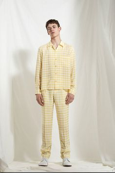 Like these as pajamas. Joseph Spring 2018 Menswear Fashion Show Collection