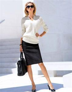 Skirt, Jumper, Sunglasses