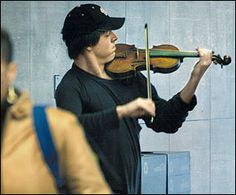 "Stop and Hear the Music. (The Joshua Bell, one of the world's greatest violinists--Experiment)  A long, but very intriguing article on our social awareness and behavior. If we can't take the time out of our lives to stay a moment and listen--if we are deaf and blind to something like this--then what else are we missing?   ""What is this life if, full of care, we have no time to stand and stare.""   ~ from ""Leisure,"" by W.H. Davies"