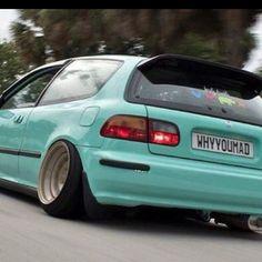 Civic Jdm, Auto Wheels, Honda Civic Hatchback, Hatchbacks, Love Car, Jdm Cars, Future Car, Fast Cars, Motor Car