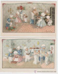 ilustradas por Pauli Ebner. Querubines en la cocina.