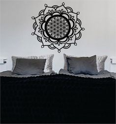 Mandala The latest in home decorating. Beautiful wall vinyl decals, that are simple to apply, are a great accent piece for any room, come in an array of colors, and are a cheap alternative to a custom