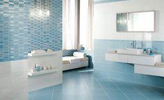 Carrelage mural bleu ciel extravaganza 30 x 60 cm id es pour la salle de ba - Carrelage salle de bain leroy merlin catalogue ...