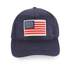 American Flag Embroidered Trucker by Levi's. This hade made of denim material with navy blue color, and American Flag embroidery, and levi's logo on the side, with adjustable strap on the back, perfect hat for sunny day.  http://www.zocko.com/z/JHlHR