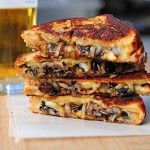 Grilled Cheese with Gouda, Roasted Mushrooms and Onions- OMG sounds awesome.