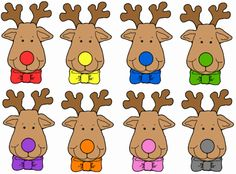 """""""Rudolph and your nose so bright"""" guessing game — Primary Languages Network Preschool Christmas Activities, Christmas Crafts For Kids, Christmas Colors, Simple Christmas, Christmas Themes, Rodolphe Le Renne, Red Nose Day, Theme Noel, Book Themes"""