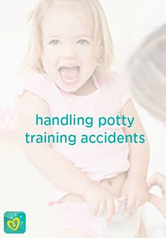 "Accidents will happen, especially during potty training. Learn the best way to deal with your toddler's ""oops"" and ""uh-ohs"" with these wonderful tips and tricks from Pampers."
