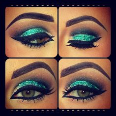 Glitter cut crease [ CaptainMarketing.com ] #beauty #online #marketing
