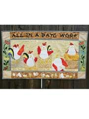 Quilt - Quick & Easy Patterns - Wall Hangings - All In a Day's Work Wall Hanging Sewing Pattern