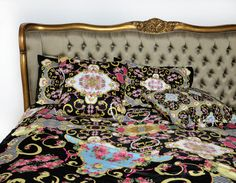 Design House Paradis Maison Bedding #beautifulbedding #frenchdecor #turquoisedecor