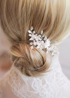 WILLA_Silver and blush bridal hair comb 4