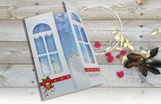 Christmas Card 3D Cut Out Card Jingle Bells Card by shlomitsart
