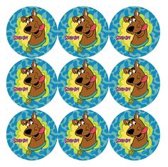 Scooby Doo Bottle Cap Art, Bottle Cap Crafts, Bottle Cap Images, Birthday Party At Park, Birthday Party Themes, Scooby Doo Dog, Printable Images, Paper Crafts, Diy Crafts