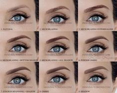 Microblading Before and After : Eyebrow Makeup Eyeliner Tattoo, Eyebrow Tattoo, Tattoo Makeup, Permanent Makeup Eyebrows, Eyebrow Makeup, Eye Brows, Eyebrow Brush, Microblading Healing Process, Eyebrow Before And After